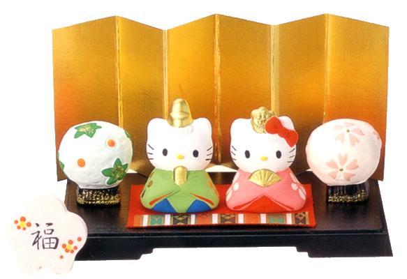 ハローキティ ミニ雛飾りセット