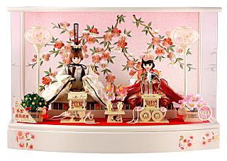 リカちゃんひな人形 ケース飾り 親王飾り