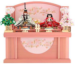 リカちゃんひな人形 収納飾り 親王飾り