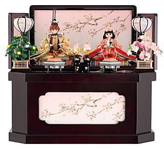 リカちゃん 久月 ひな人形 コンパクト収納飾り 親王飾り