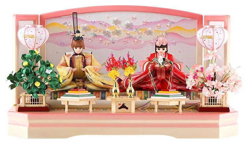 リカちゃん 久月 ひな人形 平飾り 親王飾り シリアル入