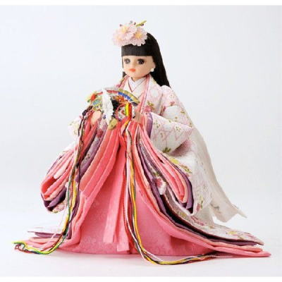 リカちゃんひな人形 立雛 白