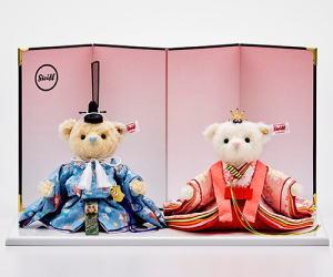 シュタイフテディ ベアひな人形 桜うさぎ