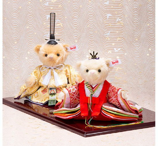 シュタイフ テディベア雛人形 七宝桜