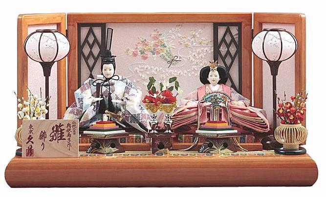 久月 親王平飾り「奥秋菊子作 絢音」